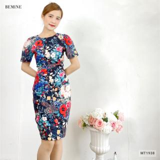 Đầm bông nhún eo cổ tròn BEMINE MT1938DEN thumbnail