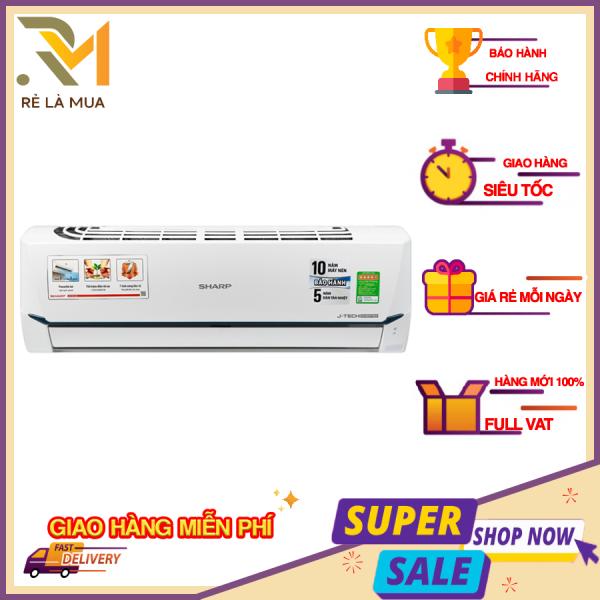 Bảng giá Máy lạnh Sharp Wifi Inverter 1 HP AH-XP10WHW - Công suất làm lạnh 9.000 BTU, Công nghệ lọc không khí Plasmacluster ion, Công nghệ làm lạnh nhanh Super Jet