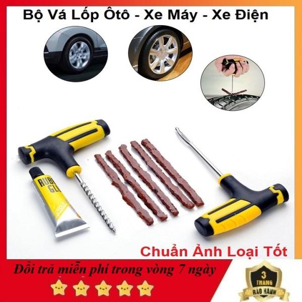 Bộ Tự Vá Lốp Xe, 5 Miếng Tiện Lợi - Bộ Vá Lốp Xe Máy - Ôtô - xe điện