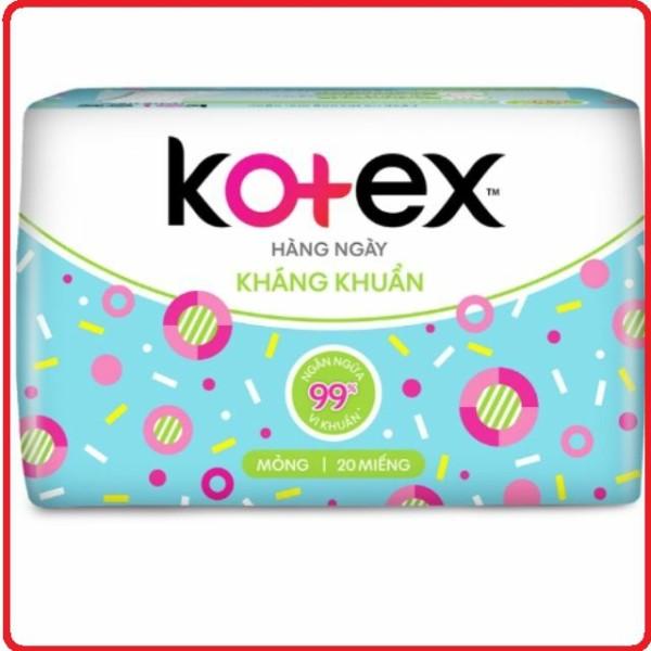Băng vệ sinh Kotex hàng ngày kháng khuẩn gói 20 miếng cam kết hàng đúng mô tả chất lượng đảm bảo an toàn đến sức khỏe người sử dụng đa dạng mẫu mã màu sắc kích cỡ cao cấp