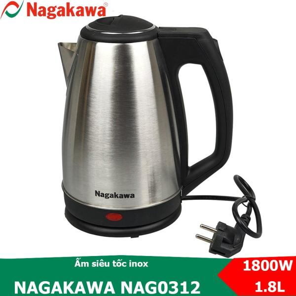 Ấm siêu tốc inox dung tích 1.8L Nagakawa NAG0312