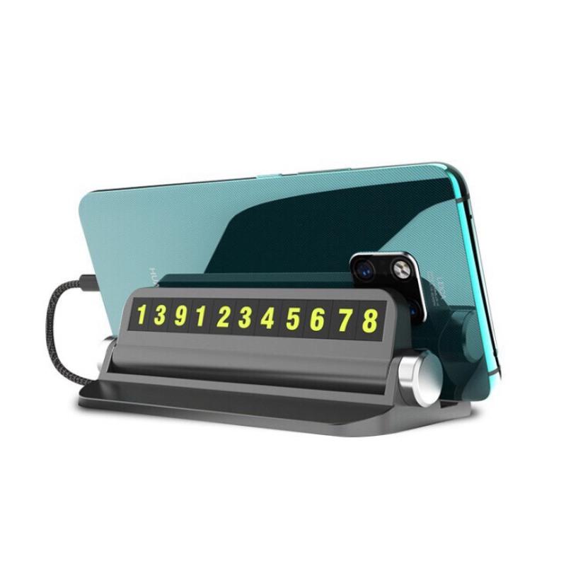 Bảng số điện thoại đặt taplo - Thẻ ghi số điện thoại phản quang khi dừng đỗ xe