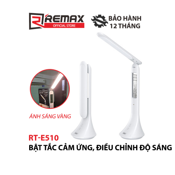 Đèn led để bàn thông minh Remax RT-E185/510 Tích hợp đồng hồ và bảo vệ mắt