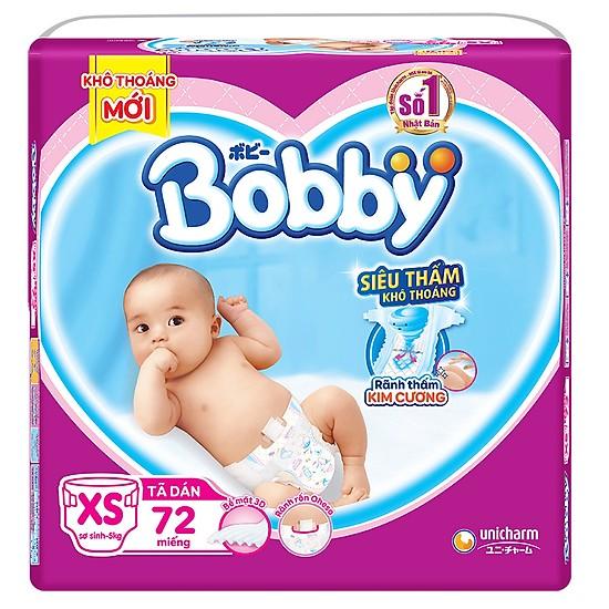 Voucher Giảm Giá Tã Dán Bobby Size XS - 72 Miếng (cho Bé  5kg)