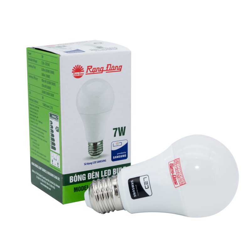 Bóng đèn LED Bulb tròn A60N3 - 7w chính hãng Rạng Đông chip LED SS chất lượng ánh sáng hoàn hảo bảo vệ thị lực