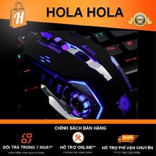 Chuột Game thủ DeTeK Divipard GearLord G502 có đèn LED đổi màu cực đẹp (Đen) thumbnail