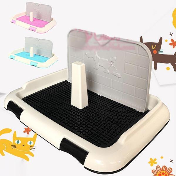 [Size Nhỏ 46x35] Khay vệ sinh cho chó có tường và cọc cao cấp