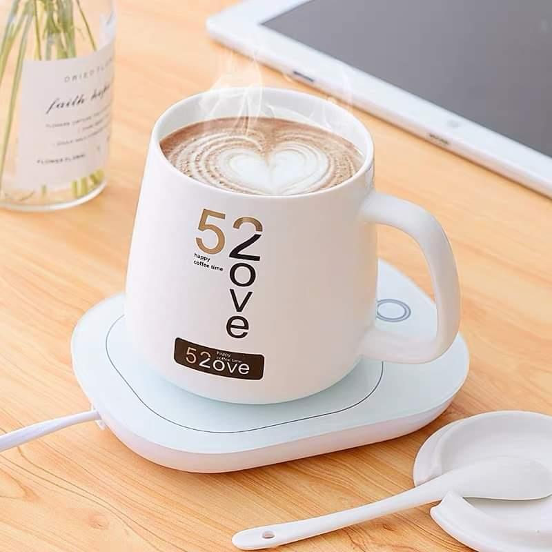 [ HÀNG HOT ] Đế hâm nóng đồ uống văn phòng + Tặng kèm ly uống cao cấp