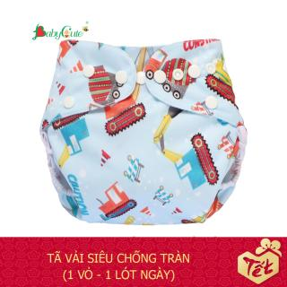 Bộ tã vải BabyCute ban Ngày Siêu chống tràn size M (8-16 kg) (1 Vỏ + 1 Lót) mẫu bé Trai thumbnail