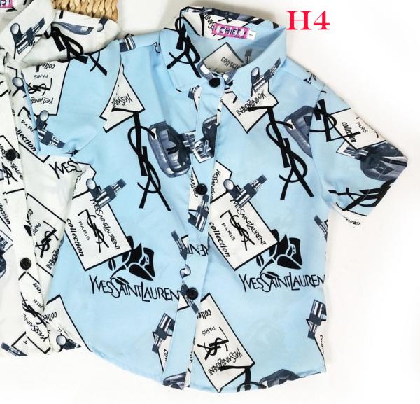 Áo Sơ Mi Bé Trai Vải Lụa Mềm Mịn Mát, quần áo bé trai sành điệu, quan ao be trai, quần áo trẻ emnam, thời trang bé trai, áo bé trai
