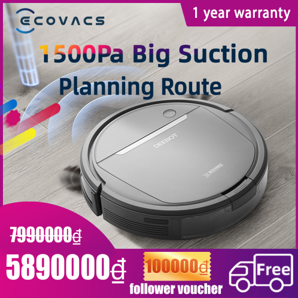 ECOVACS DEEBOT DD35 similar to OZMO 600 robot  cleaner  sweeping and mopping big suction Planning Route