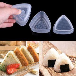 YOUNGSTERSTORE19E9 4 Cái (2 Bộ) Khung Bento Tự Làm Cho Nhà Bếp Khuôn Onigiri Sushi, Máy Ép Thức Ăn Hình Tam Giác Dụng Cụ Làm Cơm Viên thumbnail