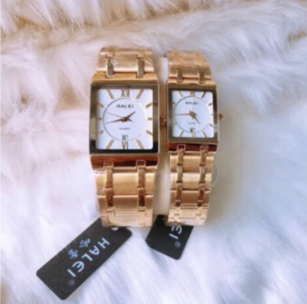đồng hồ cặp nam nữ halei chính hãng - nắp đít 4 ốc vít bán chạy