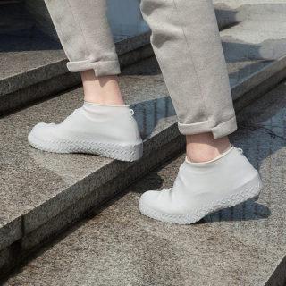(LOẠI CAO CẤP) 01 đôi Bọc Giày Silicon Không Thấm Nước Có Thể Tái Sử Dụng Bọc Giày Đi Bộ Chống Mưa Chống Trượt thumbnail