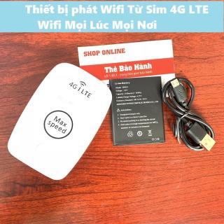 MÁY PHÁT WIFI TỪ SIM 4G MAX SPEED - TỐC ĐỘ CAO HỖ TRỢ 10 THIẾT BỊ - BẢO HÀNH 1 ĐỔI 1 - TẶNG KÈM SIM 4G thumbnail