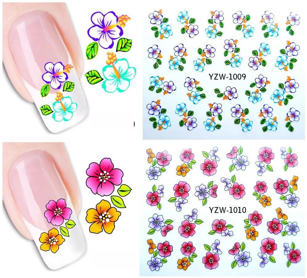 Set 2 hình xăm nước dán móng (nail sticker) mã YZW1001-1040 tốt nhất