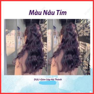 Thuốc nhuộm tóc Nâu tím không cần dùng Thuốc tẩy tóc thumbnail