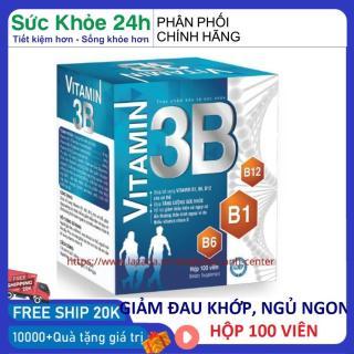 Viên uống vitamin 3b giúp ăn ngon ngủ tốt giảm đau nhức tê bì chân tay hộp 100 viên HSD 2023 đạt chuẩn GPP - shop men 2018 thumbnail