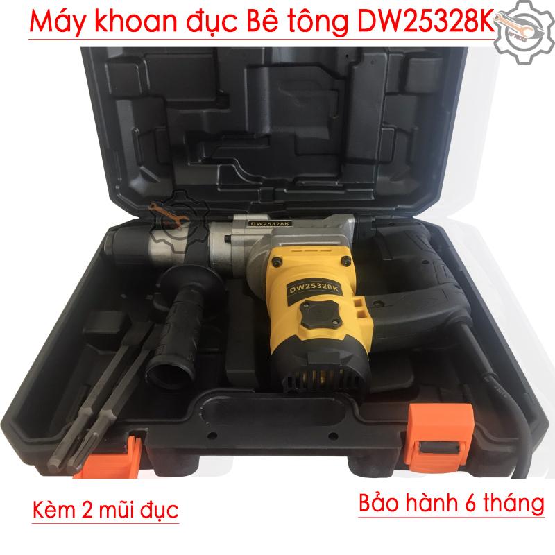 Máy khoan đục Betong 2 chức năng tặng kèm 2 mũi đục DW25328K 1350W-BH 6 tháng