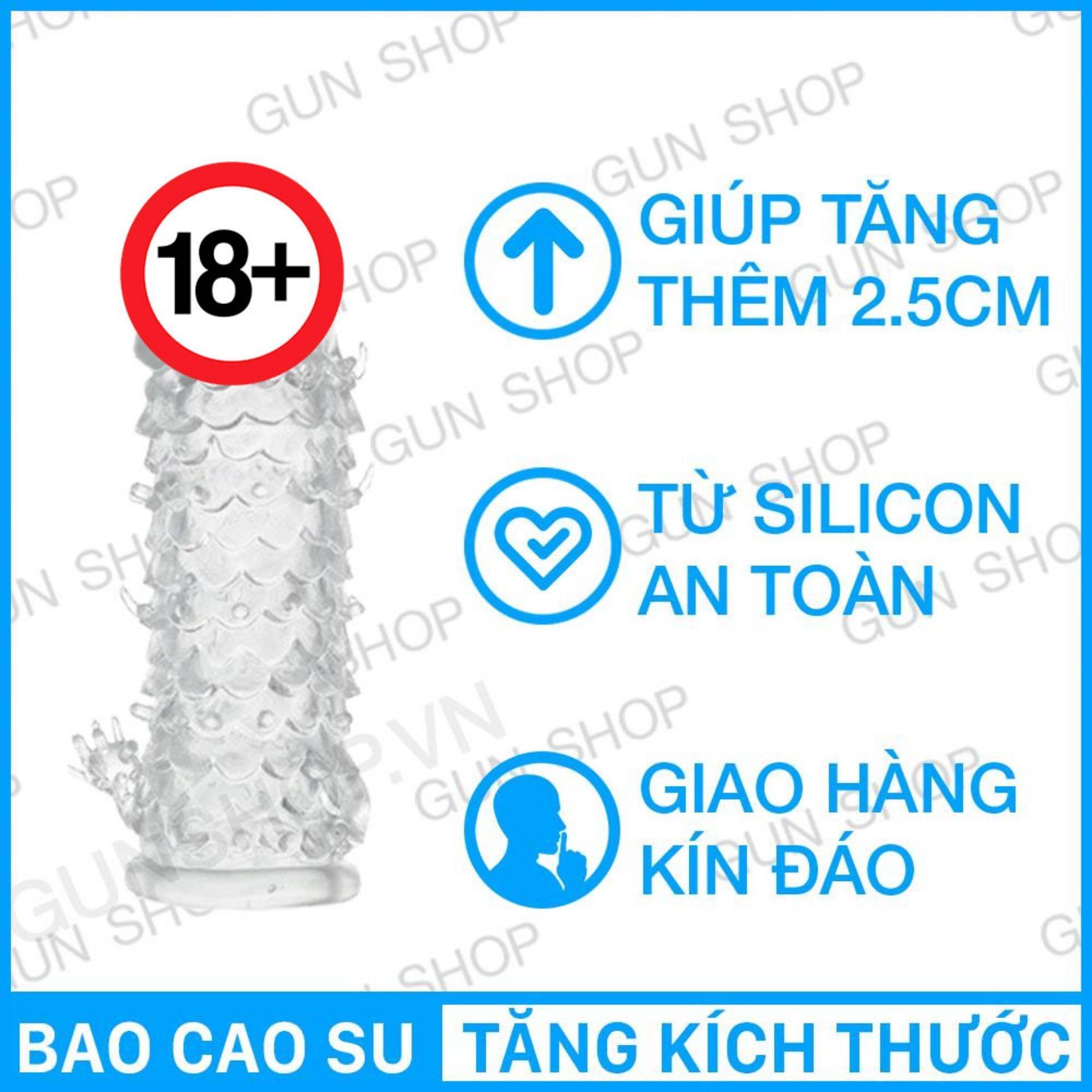 Bao Cao Su Đôn Dên Silicon y tế sử dụng nhiều lần- Tăng Kich Thước - Kéo dài thời gian quan hệ nhập khẩu