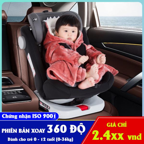 [HCM]Ghế ô tô cho bé 2 chiều HAPPY PRINCE ISO 9001 xoay 360 độ điều chỉnh 4 tư thế từ nằm tới ngồi và điều chỉnh độ cao 7 cấp cho bé từ 0-12 tuổi (xám)