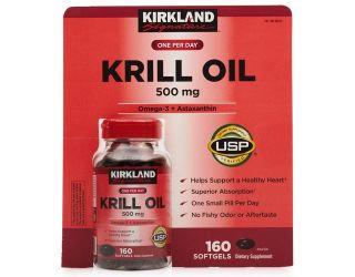 Dầu nhuyễn thể Dầu Tôm Kirkland Krill Oil 500mg 160 viên của Mỹ thumbnail