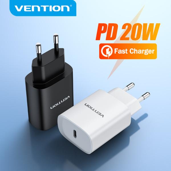 Vention PD 20W Bộ Sạc Gắn Tường USB C Bộ Sạc Nhanh Cho iPhone 12 SAMSUNG Xiaomi Huawei Bộ Sạc Gắn Tường Type C