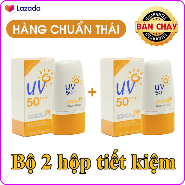 Bộ 2 hộp kem chống nắng cho da mặt và body Eliza Helena UV50+++ Thái Lan (30g x 2) giúp chống nắng hiệu quả, bảo vệ da khỏi các tác nhân gây hại, dưỡng ẩm cho da và làm sáng da