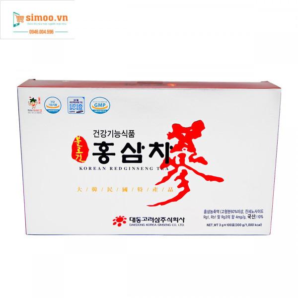 Hộp 100 gói Trà Hồng sâm Daedong Hàn Quốc (Nhân sâm đỏ) - (3 grams x 100) giá rẻ