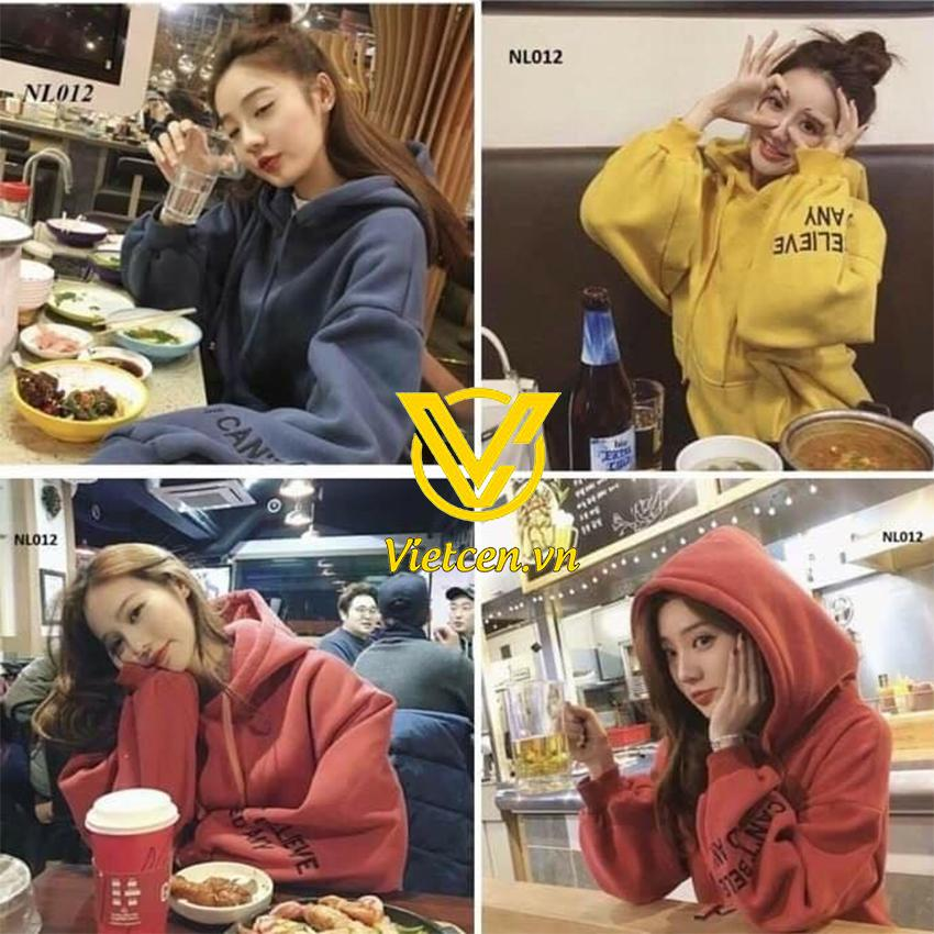 Áo hoodie nỉ nữ style Hàn Quốc cực kute