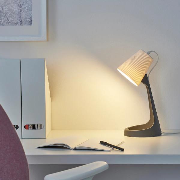 Đèn bàn làm việc SVALLET IKEA, kèm bóng đèn LED E14