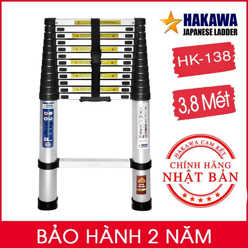[TRỢ GIÁ] Thang nhôm rút đơn HAKAWA HK144  - Hàng Nhập khẩu Nhật Bản , xếp gọn tiện lợi , dễ di chuyển