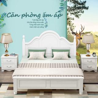 Giường đôi giường công chúa 1.8m kiểu dáng đơn giản bán cổ điển thanh lịch bit cheaper thumbnail