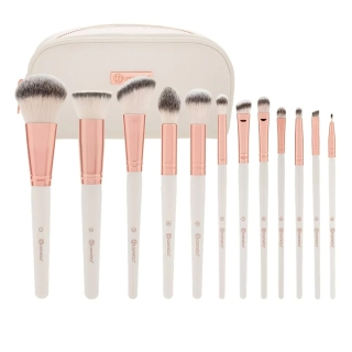 Bộ Cọ Trang Điểm Bh Cosmetics Rose Romance 12 Piece Brush Set With Cosmetic Bag thumbnail
