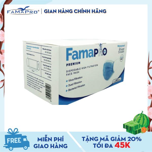 Khẩu trang y tế cao cấp 4 lớp kháng khuẩn Famapro Premium (40 cái / Hộp)