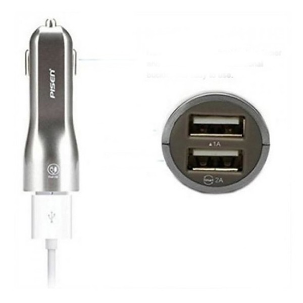 Sạc Pisen Dual USB Car Charger 1A/2A (Smart)