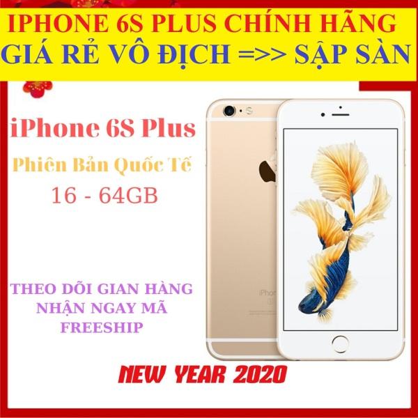 [ SALE - RẺ VÔ ĐỊCH ] điện thoại Aple Iphone6S Plus 64G bản Quốc Tế - Bảo hành 12 tháng, CPU Aple A9 2nhân RAM 2GB màn hình LED-backlit IPS LCD, 5.5 , Retina HD NGUYÊN ZIN tặng FULL PHỤ KIỆN