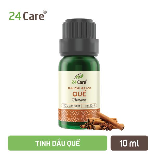 Tinh dầu Quế 10ml/50ml/100ml 24Care - diệt khuẩn, khử mùi hiệu quả, ngủ ngon, an thần cao cấp