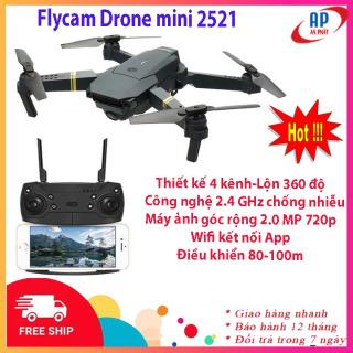 [Freeship] Flycam mini Drone 2521 thiết kế 4 kênh nhào lộn 360 độ trên không, động cơ mạnh mẽ camera chống rung quang học HD 720P hình ảnh rõ nét- Flycam có camera- Máy bay điều khiển từ xa có camera phiên bản cao hơn Flycam mini F87 thumbnail