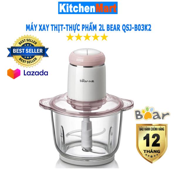 Máy Xay Thịt Bear QSJ-B03K2 cối thủy tinh 2L (Hàng chính hãng - Bảo hành 12 tháng) - KitchenMart