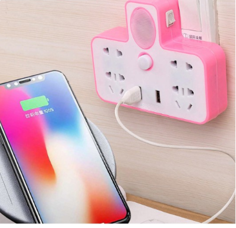 Bảng giá Bộ ổ điện chia 2 cổng USB có đèn led( Giao Màu Ngẫu Nhiên)