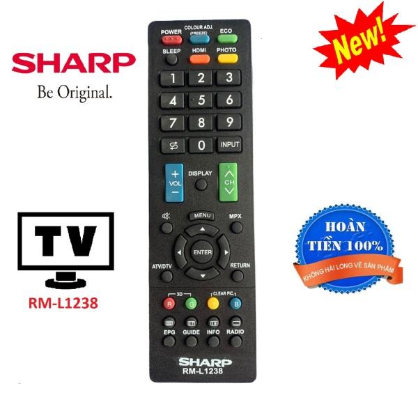 Bảng giá Điều khiển tivi Sharp RM-L1238 đa năng các dòng TV Sharp LCD, Plasma, LED - Hàng tốt