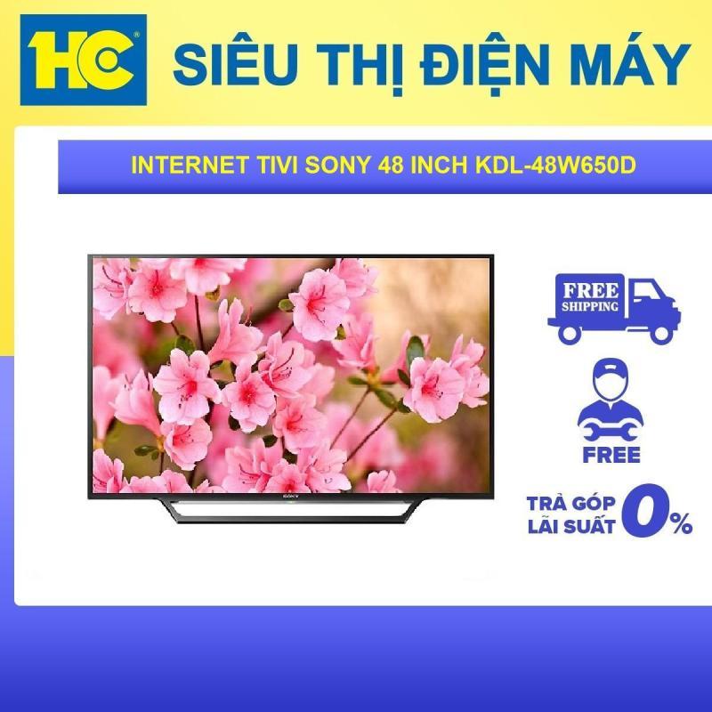 Bảng giá Internet Tivi Sony 48 inch Full HD KDL-48W650D - Bảo hành 2 năm - Miễn phí vận chuyển & lắp đặt - hỗ trợ trả góp