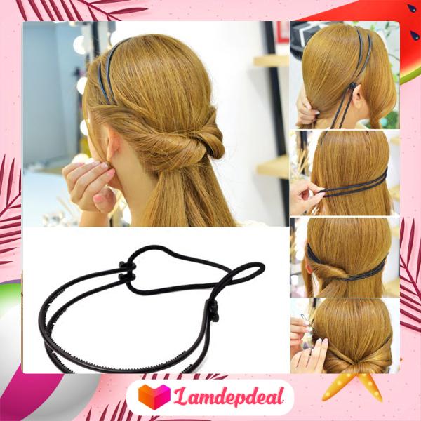 ♥ Lamdepdeal - Băng đô tạo kiểu tóc siêu nữ tính - Phụ kiện tạo kiểu tóc dễ thương cho bạn gái - Dụng cụ làm tóc HOT TREND 2020