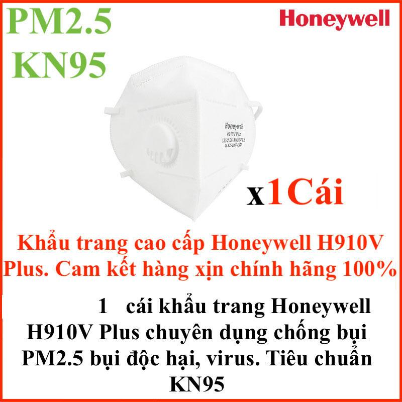 Set 20-10-5-1 Cái Honeywell H910V Plus Mặt nạ khẩu trang cao cấp chống bụi công nghiệp, bụi siêu mịn nano PM2.5 tiêu chuẩn KN95 hiệu suất lọc hơn 95% thiết kế thời trang rất đẹp êm ái vừa với cả nam và nữ