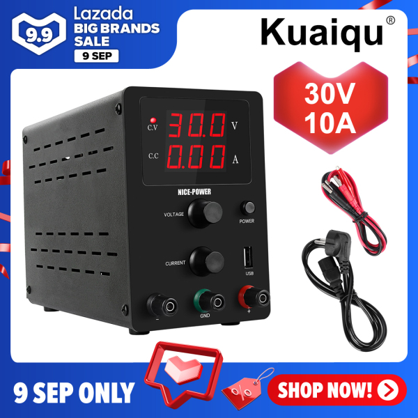 Bảng giá KUAIQU 0-30V 0-10A adjustable DC Switching Plating Lab Power Supply,For electronic parts mobile phone  maintenance, aging test, laboratory Phong Vũ
