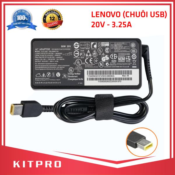 Bảng giá [HÀNG CAO CẤP] Cục sạc laptop LENOVO 20V 3.25A 65W chuôi USB có kim ở giữa BẢO HÀNH 12 THÁNG KITPRO Phong Vũ