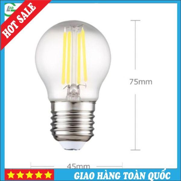 Bóng Đèn LED Edison G45 4W, Sử Dụng Đui E27 (Trắng 6000K / Vàng 3000K)