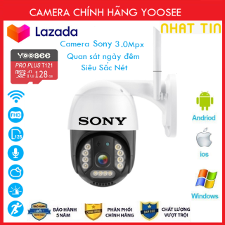 ( TÙY CHỌN Camera Thẻ 128GB Yoosee Bảo Hành 60 Tháng ) Camera Wifi Sony PTZ Xoay 360 Độ 3.0 Ngoài Trời - Trong Nhà 3.0 Mpx Full Hd 1080P , Siêu Chống Chịu Thời Tiết - New 2021 thumbnail