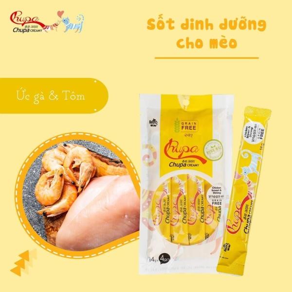 Sốt dinh dưỡng cho mèo vị cá ngừ và sò Chupa Creamy Tuna and Shellfish 56g